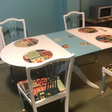 The Pass it on are up cycling furniture for our Rochdale Storehouse